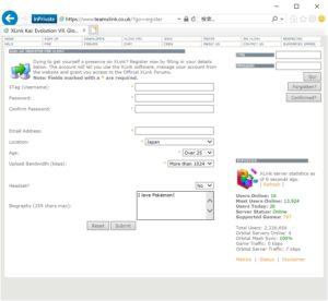 XLink Kai_サインアップ画面
