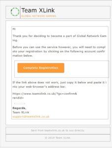 XLink Kai_サインアップ_1回目のメール認証